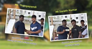 Gold Rock from Transformers team was awarded with the cash prize of Rs. 500 for scoring maximum runs in the cricket match from Mohan Paul, For bowling performance Sarath Kumar took hat-trick wickets against Transformers and was awarded with the cash prize of Rs. 500. from Mohan Paul